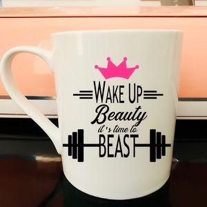 🌹Beauty and Beast Workout Mug